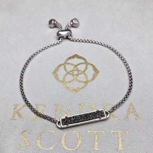 New Kendra Scott Stan Silver Platinum Drusy
